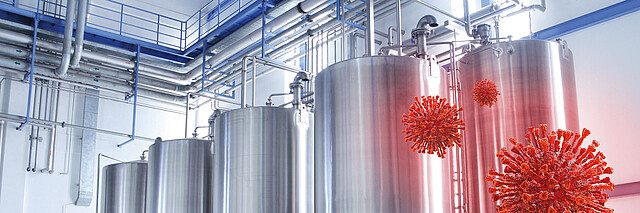 [Translate to Chinese:] Effective air filtration protects food production processes  from germs and viruses