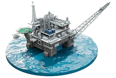 Oil and gas industry offshore and onshore