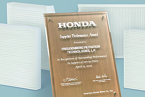 Freudenberg receives Honda's Service Parts Supplier Award