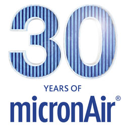 30 years of micronAir logo