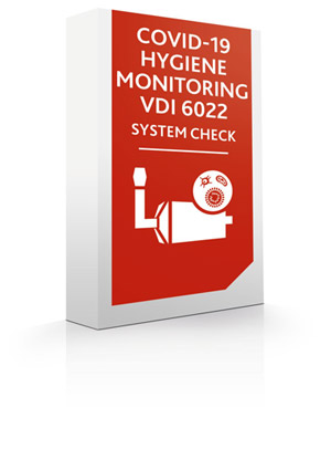 [Translate to Chinese:] Module SYSTEM CHECK COVID-19 + HYGIENE MONITORING VDI 6022
